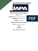 Tarea V de Derecho Constiucional y Sus P.