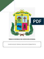 TÉRMINOS DE REFERENCIA - administrativo