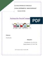 animacion sociocomunitaria seccion B