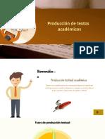 PRODUCCION DE TEXTOS ACADEMICOS