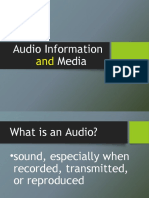 AUDIO INFORMATION AND MEDIA