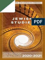 Stanford University Press   Jewish Studies 2020-2021
