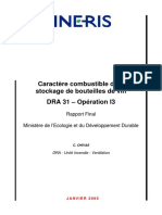 Caractère combustible