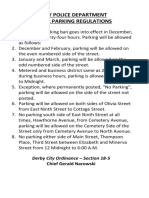 DPD - Winter Parking Ban Regulations