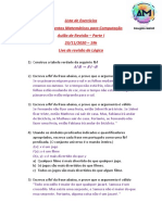 Lista de Exercícios da Live de Revisão de Lógica 23-11-2020