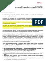 Item 9 (Captación) Manual de Normas y Procedimientos REMAX