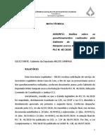 Parecer da CLDF sobre a divergência de redação em emenda