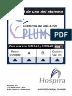 MANUAL DE OPERACION BOMBA DE INFUSION HOSPIRA PLUMA