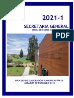 Instructivo Secretaria General - Elaboración de Horarios 2021-1.pdf