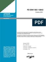 FD ENV ISO 13843 (2001) validation méthode