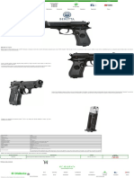 Beretta, 84fs, pistola