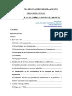 ESTRUCTURA DEL PLAN DE MEJORAMIENTO ORGANIZACIONAL-1
