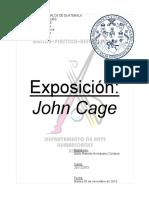 Exposición  John Cage