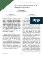 Personal Tax Compliance Determinants at Pt Pembangkitan Jawa Bali