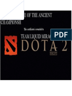 DEFENSE OF THE ANCIENT CHAMPIONSH