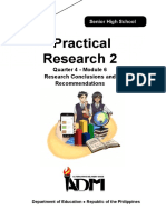 PracResearch2_Grade 12_Q4_Mod6_Research Conclusions and Recommendations_Version3