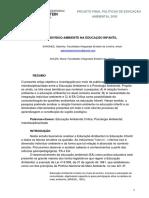 PDF As Raízes Indivíduo-Ambiente na Educação Infantil