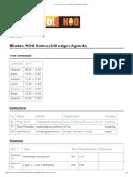BhutanNOG Network Design Workshop- Agenda