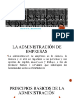 1 La Administraciòn de Empresas