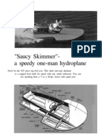 Saucy Skimmer AKA Saucy Shingle Hydroplane Boat Plans