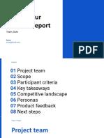 Copy of Research Report Template by Femke.design