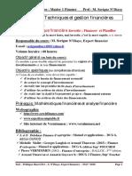 Politique Financire  UCAO Snd  2018