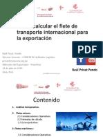COMO CALCULAR FLETE DE TRANSPORTE INTERNACIONAL
