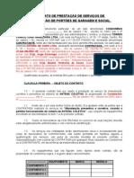 Contrato de Manutenção de ANTENA COLETIVA - Modelo