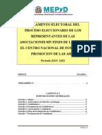 4. Reglamento Electoral del Proceso Eleccionario 2019-2021