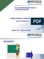 INDUCCIÓN FINAL LECTO I - 2011