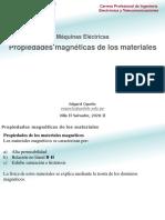 Máquinas Eléctricas - 03 Propiedades magnéticas de los materiales