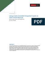Using Crash-Consistent Snapshot Copies as Valid Oracle Backups - July 2010 - TR-3858