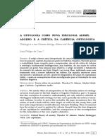 (2020) DE CAUX, Luiz Philipe. A ontologia como nova ideologia alemã _ Adorno e a crítica da carência ontológica.pdf