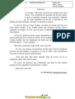 Devoir de Contrôle N°1 - Français - 8ème (2018-2019) Mr Atef AYED