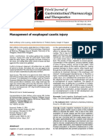 management of esophageal caustic injury