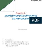 Chapitre 2 distribution des contraintes en profondeur