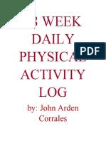 18 WEEK DAILY PHYSICAL ACTIVITY LOG