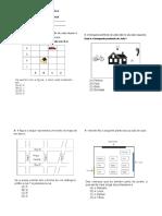 Atividade de matemática  LOCALIZAÇÃO E CAMINHOS