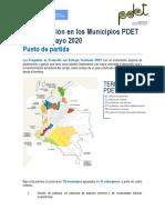 Documento avances PDET. 31 de mayo 2020