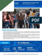 SR OEA Nov20 Crisis de Migrantes y Refugiados Venezolanos Informe de Situacion