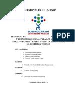 """PROGRAMA DE SEGUIMIENTO Y RE-INSERSION SOCIAL PARA LOS MENORES INFRACTORES DEL CENTRO """"CONA"""" DE LA CIUDAD DE LA SANTÍSIMA TRINIDAD"""