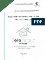 REGLAMENTO TELETRABAJO BOLIVIA