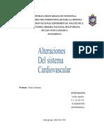 Alteraciones del sistema cardiovascular. Unidad 4 By Leydis Agreda