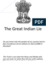 The Great Indian Lie