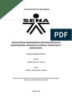 Ensayo de Aplicación de Herramientas metodologicas