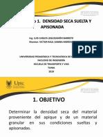 1. Densidad seca suelta y apisonada 2S 2019