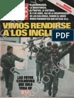 Malvinas Revista Gente Abril 08 1982 Vimos Rendirse a los Inlgeses  Parte1