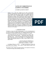 Determinants of Corruption in Developing Countries