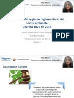Estructura Del Régimen Reglamentario Del Sector Ambiente.