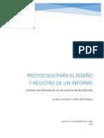 PROTOCOLO PARA EL DISEÑO Y REGISTRO DE UN INFORME
